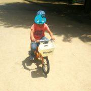 5歳ユッチ、初めての自転車