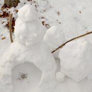 今シーズン初の雪遊び